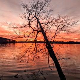 Endless sunset lit up the whole lake.
