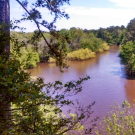 View of the river from the cliff