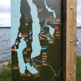 map of lakes and parks and public access