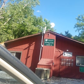 Abandant place took pic August 16, 2020. Closed Campsite general store had filthy boxes and full of spiders.