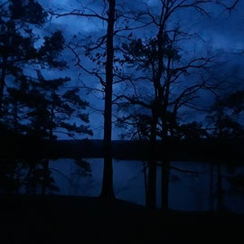 My view just before dawn
