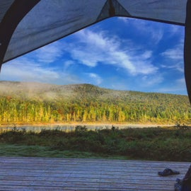 Shot from the tent on our site