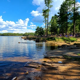 Willow Springs lake next to Sinkhole camp ground