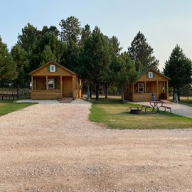 The cabins across from us. Plenty of space!