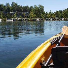 Lake (in rental kayak)