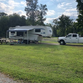 Our rig and two vehicle