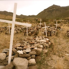 An old cemetery in Shafter. The town is an old mining town and the mines claimed more than a few lives.