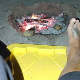 Campfires on the beach!