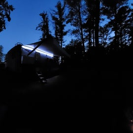 Our campsite by night