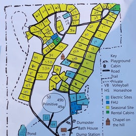 map of grounds. we had spots 51&48