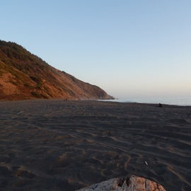 the beach at pre sunset