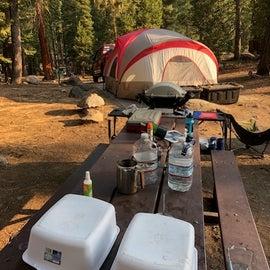 Nice picnic tables.