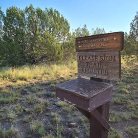 Sign in and explore the canyon