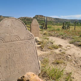 Cemetery on the trail