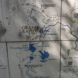 Grand Rapids in context of the Headwaters water trail
