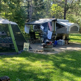 Our camp site.