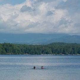 Swimming in Lake Bomoseen