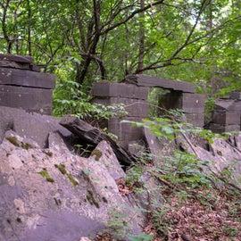 The ruins along the Slate History Trail