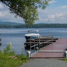The dock near the Lake Bomoseen Beach