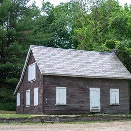 Barrow house on the Slate History Trail