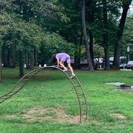 Playground might need some TLC but the kid will still play !