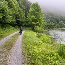 Heavy low cloud cover above the beautiful Greenbrier River