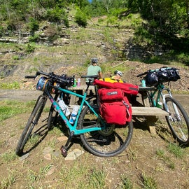 Two-wheel Pack Mules handled their trail easily
