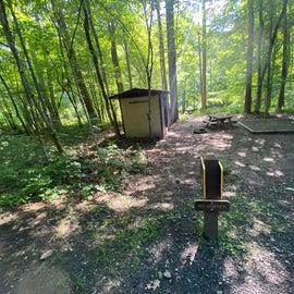 Adirondack style shelter riverside
