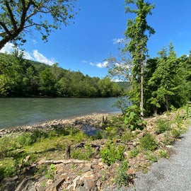 Dryer trails, open river views