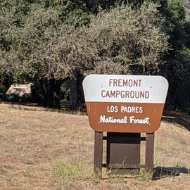 Campsite sign. Can't miss it from the main road.