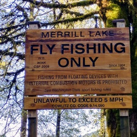 Fly-fishing only, Merrill Lake