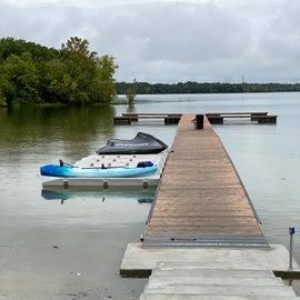 One of the three docks