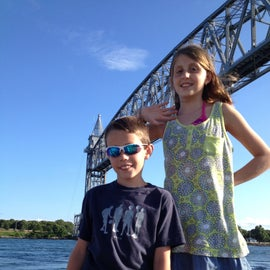 Cape Cod railroad bridge on the canal