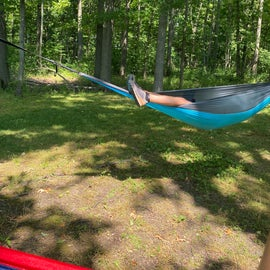 Great sport to set up multiple hammocks and shade at site 10