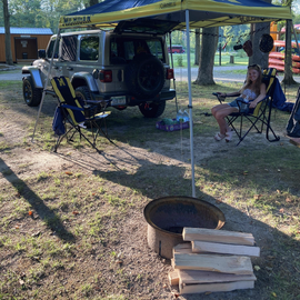Small camper/tent sites are a good size
