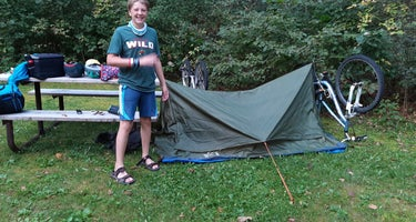 Canoe Landing  Campsite at Crow Wing State Park