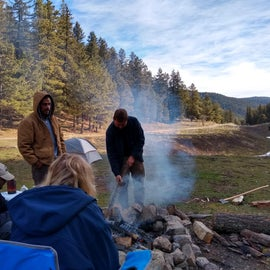Gathering around the fire