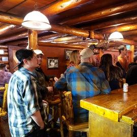 Gwins Lodge Roadhouse bar is fun