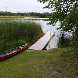 Boat landing at the canoe-in site