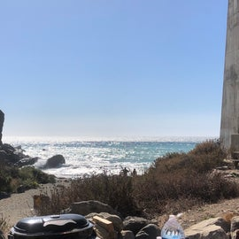 Beach view from camp site 4