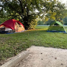 Campsite 11, one spot down from camp host.