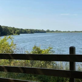 View of lake from walking trail.