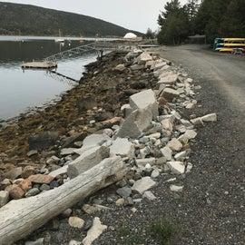 Communal campground waterfront