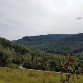 View from the top of the big climb before you get to the campground. If you've got a 4 wheel vehicle or backpacking supplies staying a night up here would be a great experience.