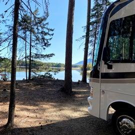 Lake side camping.