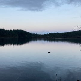 Cascade Lake across the road