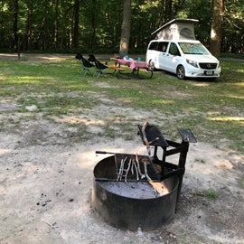 Site 33 in the South Lake (modern) campground