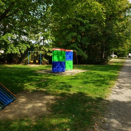 Portion of large playground