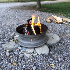 Maintained firepits