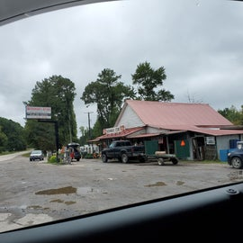 5 min away from campground. Sold firewood. No gas.